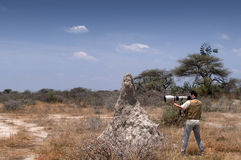 Photographer in the savannah Stock Images