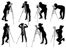 Photographer set Stock Images