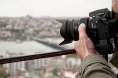 Photographer shoot in Istanbul Stock Photos