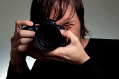Photographer shooting Royalty Free Stock Photo