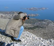 Photographer shooting stock images