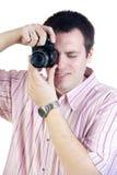 Photographer shooting with digital camera Royalty Free Stock Photos