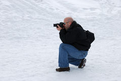Free Photographer Shooting In Snow Royalty Free Stock Photography - 8636187
