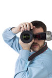 Photographer shooting portraits Stock Photo