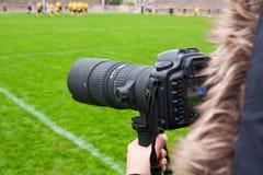 Photographer shooting rugby Stock Photos