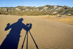 Photographer shooting - shadow abstract Royalty Free Stock Photo
