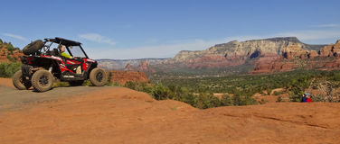A Photographer Shoots a Four Wheeler in Sedona Royalty Free Stock Images