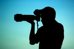 Free Photographer Silhouette Royalty Free Stock Photography - 7849367