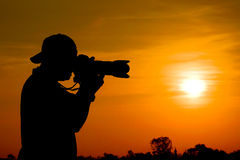 Photographer silhouette Stock Images