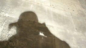 Photographer silhouette stock video