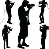Photographer silhouette vector Royalty Free Stock Photo