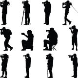 Photographer silhouette vector Stock Photography
