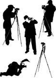 Photographer silhouettes Stock Photo