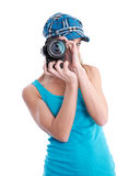 Photographer with SLR Stock Images