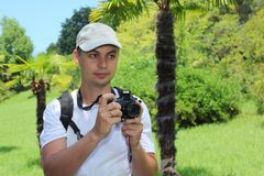 Photographer in sochi arboretum Stock Images