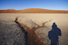 Photographer at Sossusvlei Royalty Free Stock Images