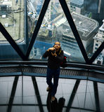 Photographer, 30 St Mary Axe, London Stock Images