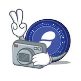 Photographer Status coin mascot cartoon. Vector illustration Royalty Free Stock Image