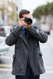 Photographer street photos Royalty Free Stock Photos