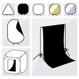 Photographer studio equipment set Royalty Free Stock Photo