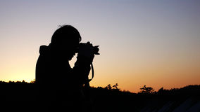 Photographer at Sunrise Stock Photos