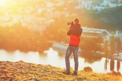 Photographer at the sunrise Royalty Free Stock Image