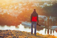 Photographer at the sunrise Royalty Free Stock Photography