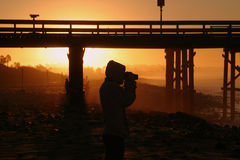 Photographer At Sunset Royalty Free Stock Photo