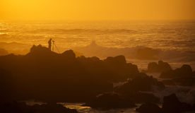 Photographer at Sunset Royalty Free Stock Photography