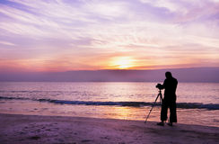 Photographer take a photo Stock Images