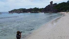 Photographer take a photo of Similan island in Thailand royalty free stock image
