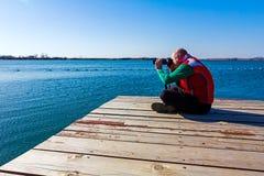 Photographer take photo Stock Photography