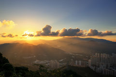 A photographer take a sunset shot Royalty Free Stock Photos