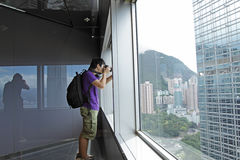 Photographer takes a photo Royalty Free Stock Image
