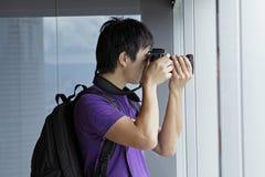 Photographer takes a photo Stock Photos