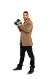 Photographer takes a picture Stock Images