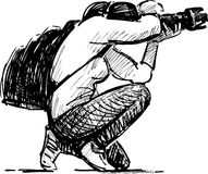 Photographer takes picture royalty free illustration