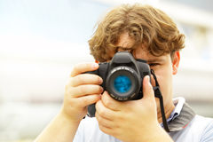 Photographer taking Royalty Free Stock Images