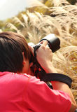 Photographer taking photo Stock Photography