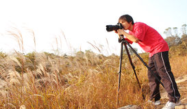 Photographer taking photo Royalty Free Stock Photography