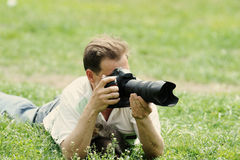 Photographer taking photo Stock Image