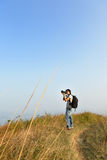 Photographer taking photo outdoor Royalty Free Stock Images