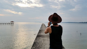 Photographer taking photograph Royalty Free Stock Photo