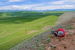 Alpine grassland scenery royalty free stock photography