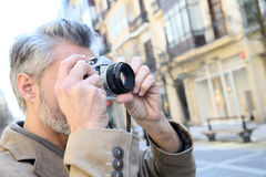 Photographer taking photos of architecture Royalty Free Stock Photography