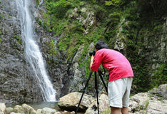 Photographer taking picture Royalty Free Stock Photo