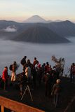Photographer taking picture of Mount Bromo Royalty Free Stock Image