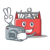 Photographer tool box character cartoon Stock Image