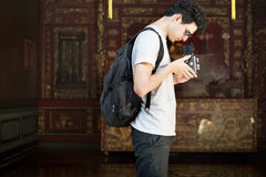 Photographer Traveler Capture Portrait Concept Stock Photography