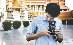 Photographer Traveler Capture Portrait Concept Royalty Free Stock Image